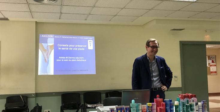 Charla Akileïne en la Asociación de Diabéticos de Leganés