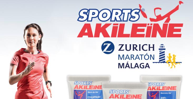 Sports Akileïne en Zurich Maratón de Málaga 2017